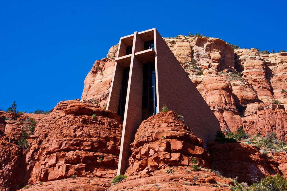 Vista exterior de la capilla de la Santa Cruz