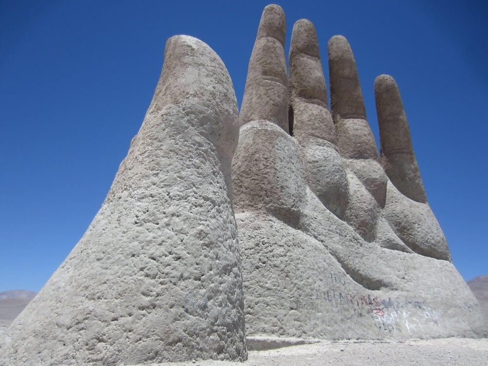 Detalle de la Mano del Desierto