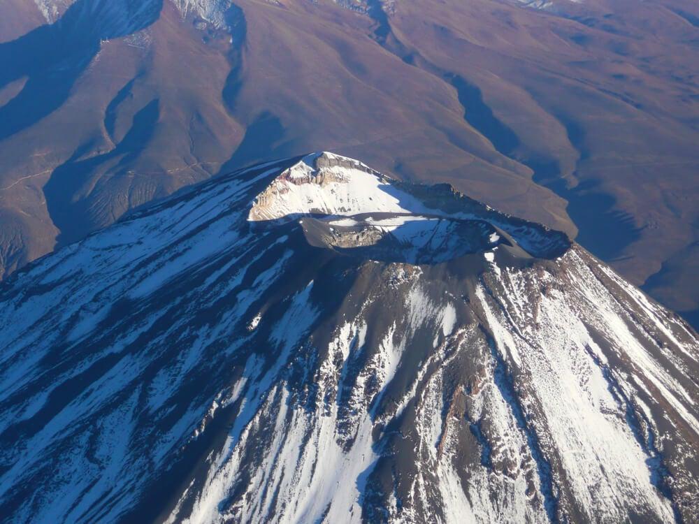 Cráter del volcán Misti