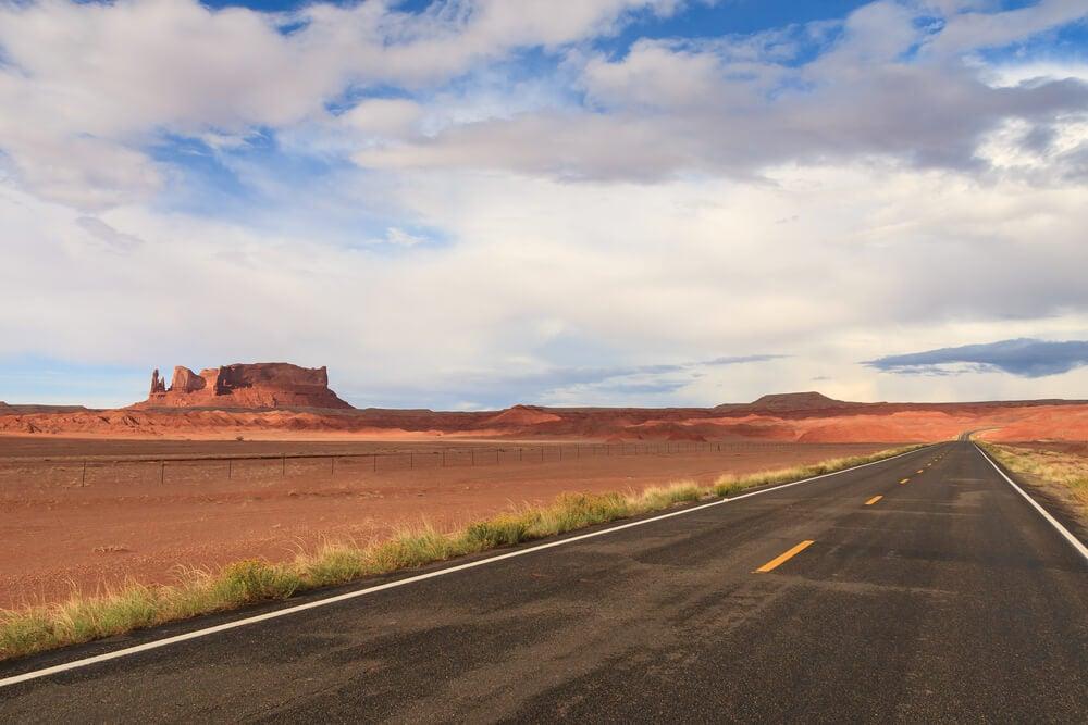 Desierto en Nuevo México, fin de la Great Divide Mountain