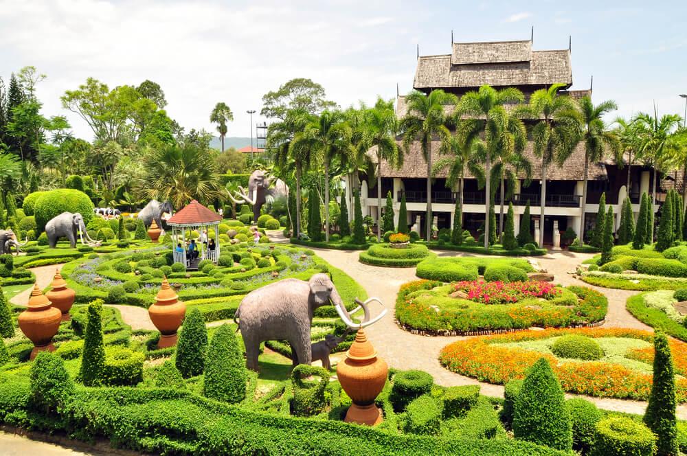 Detalle de los jardines