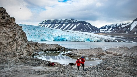 Glaciar en Svalbard