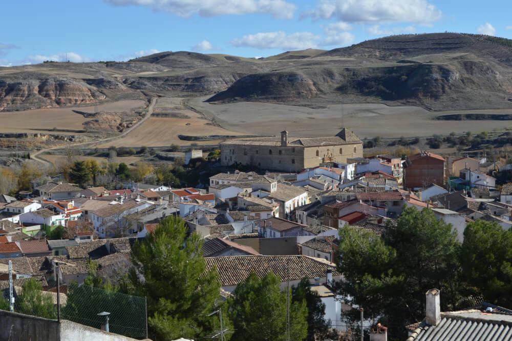 Vista de Huete en la provincia de Cuenca