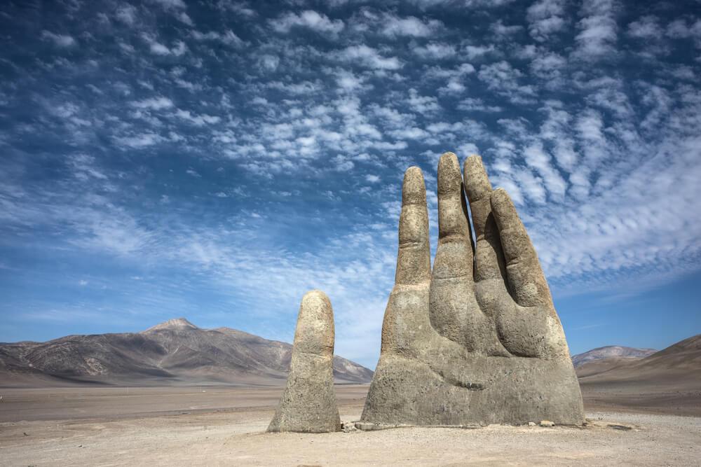 La 'Mano del Desierto' en Antofagasta, en Chile