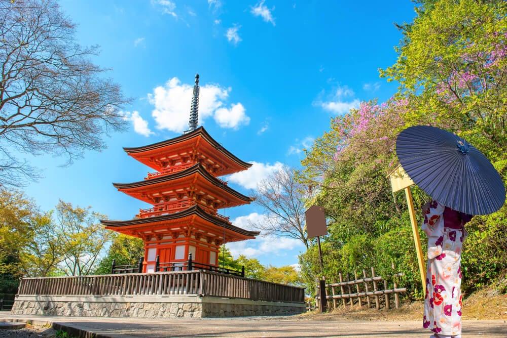 Pagoda del templo Kiyomizu-dera