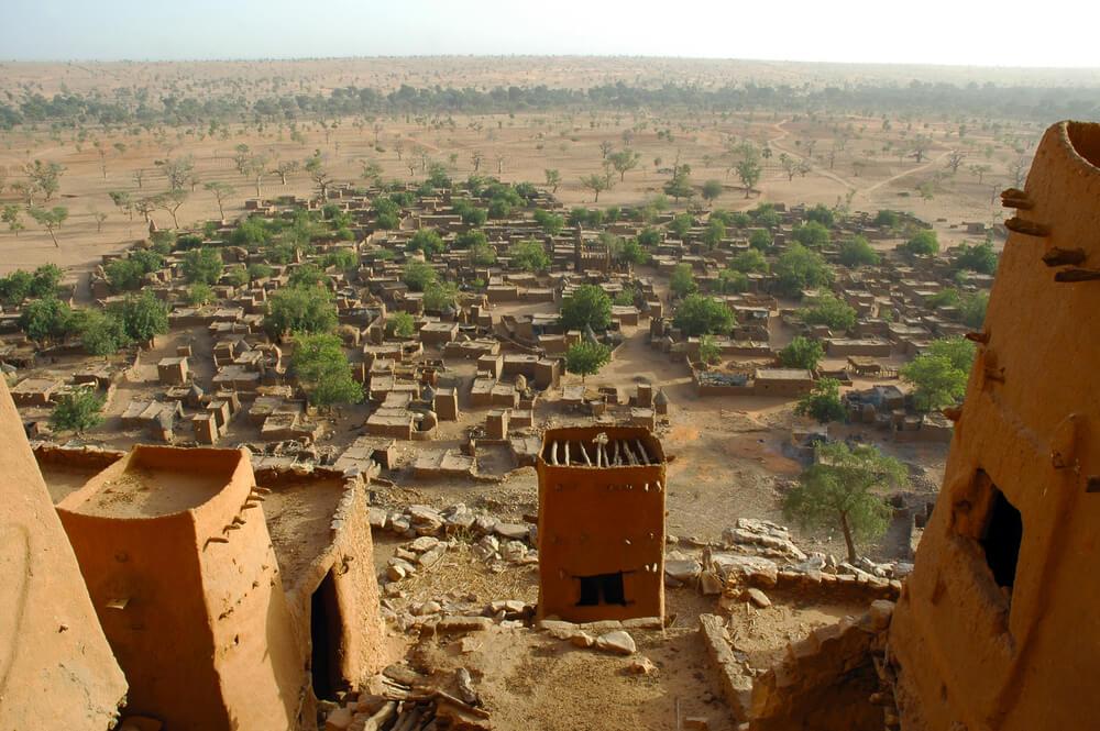 Pueblo dogon en Mali