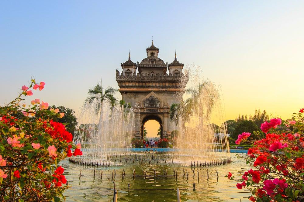 Puerta de Patuxai en Vientiane