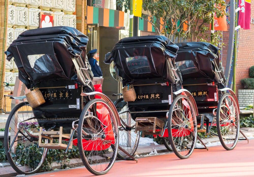 Rickshaws en Asakusa