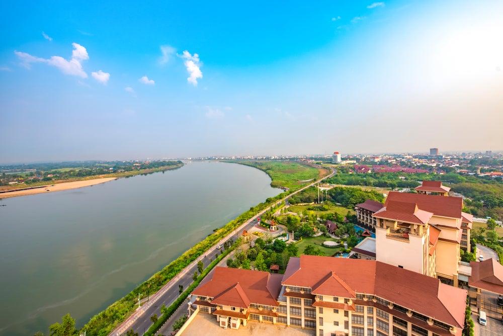 Río Mekong en Vientiane