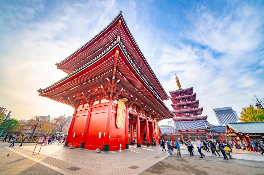 Vista del templo Sensoji