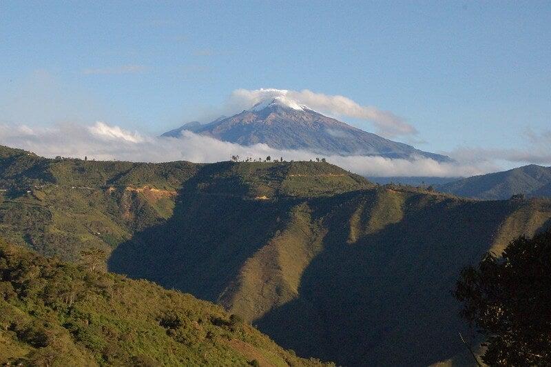 Vista del Nevado del Huila