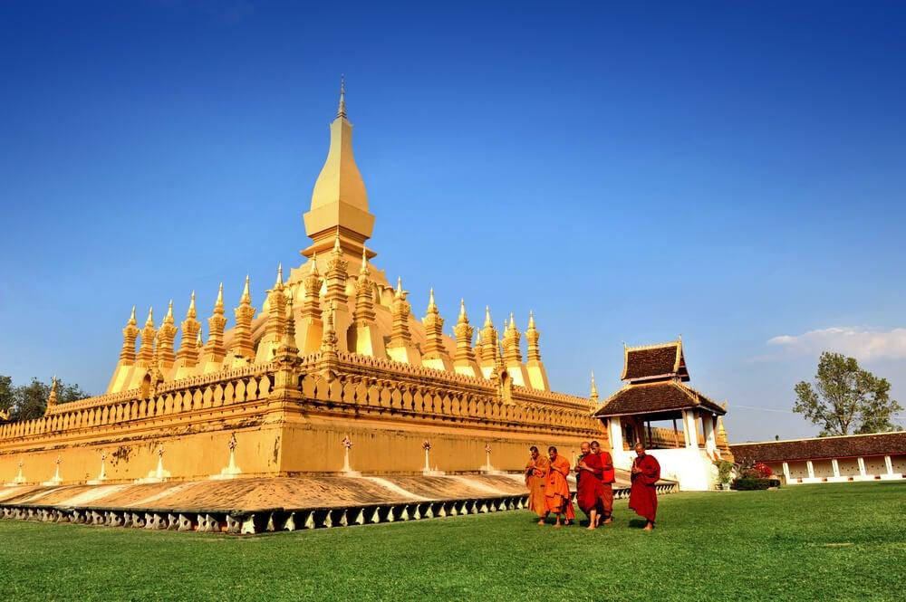 Vista de Wat Phra That Luang