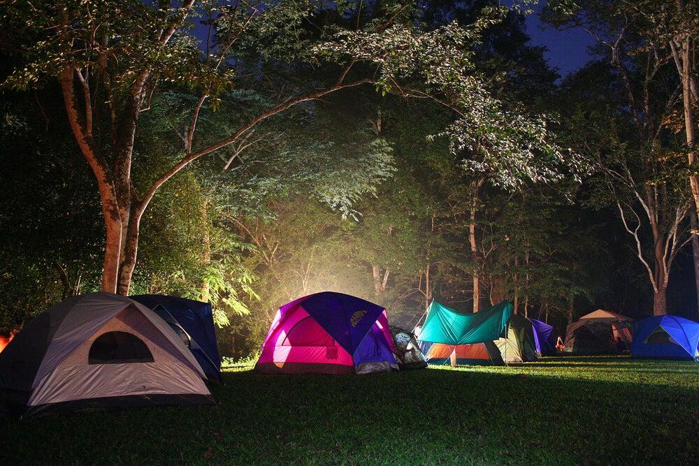 Acampada de noche