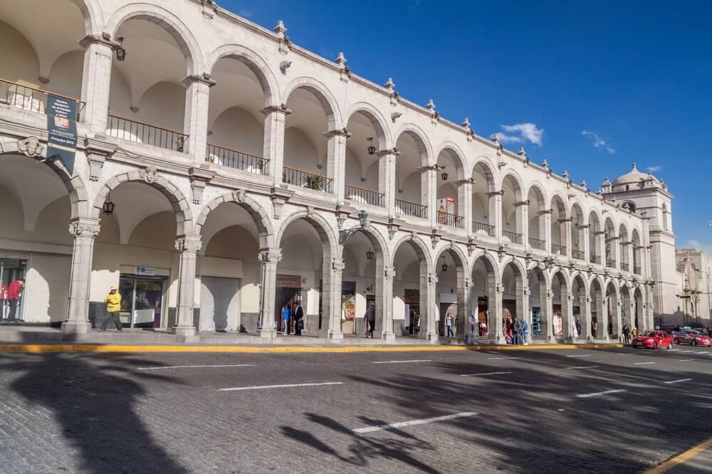 Arcos de la Plaza de Armas de Arequipa
