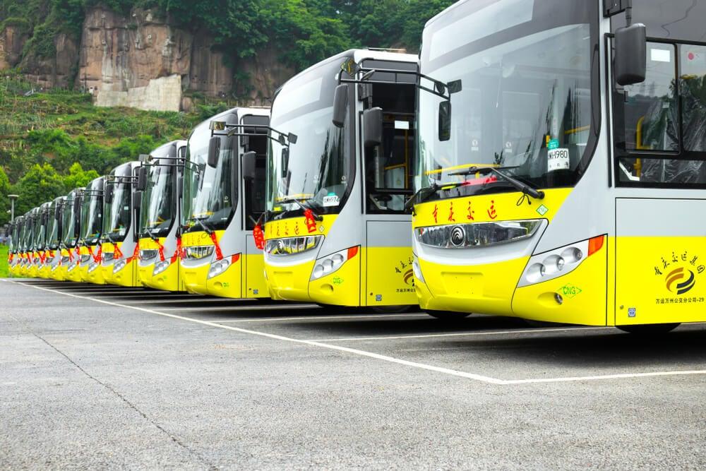 Autobuses en China