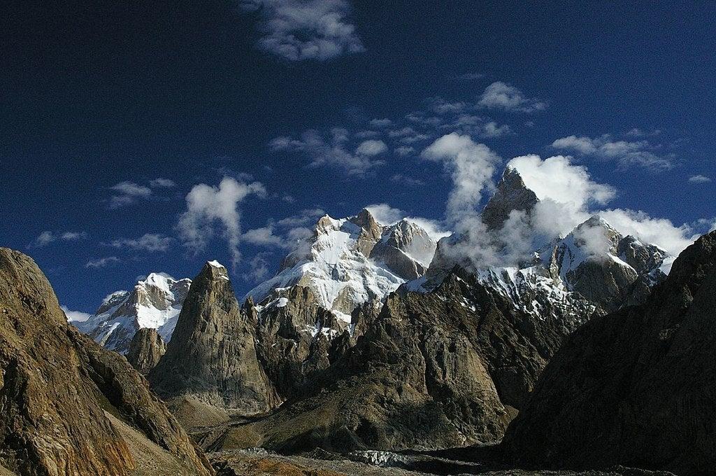 Vista del Baitha Brakk, una de las montañas más peligrosas del mundo