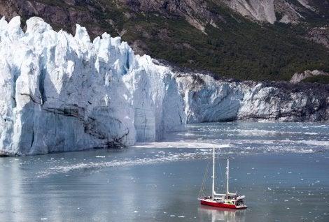 Barco en Glacier Bay