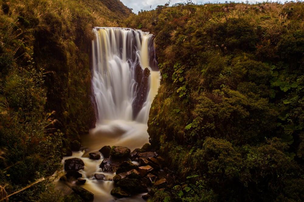 Cascada en el parque nacional Puracé