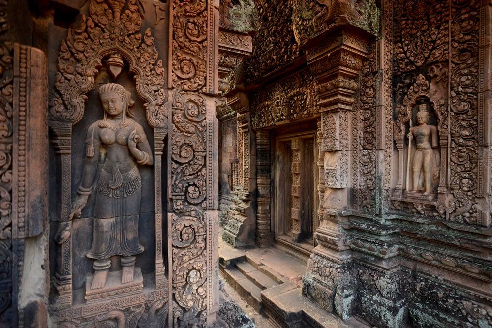 Decoración de Banteai Srei