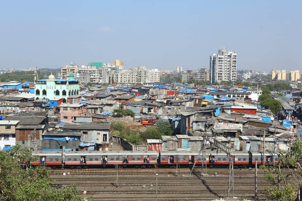 Vista de Dharavi Slum