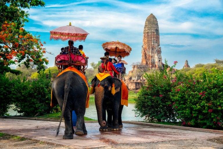 El elefante, el símbolo nacional de Tailandia