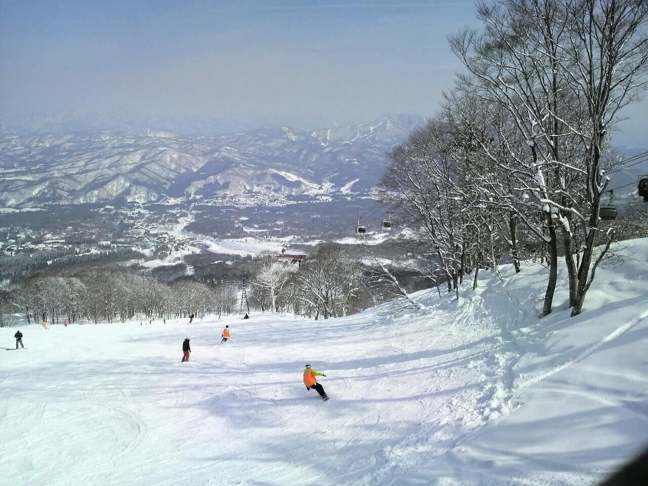 Esquiadores en Japón