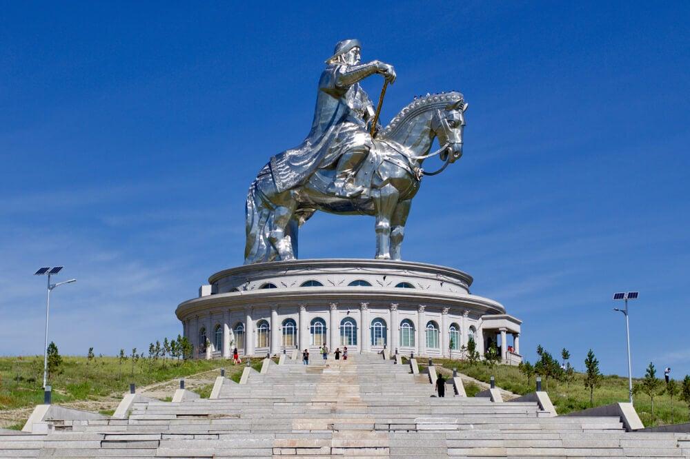 Estatua de Gengis Kan, uno de los monumentos más extraños