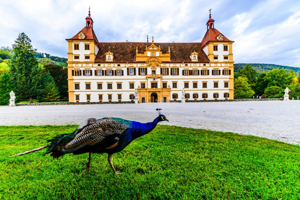 Fachada del castillo de Eggenberg