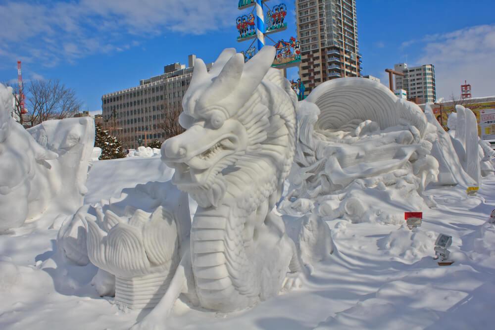 Esculturas del Festival de la Nieve de Sapporo