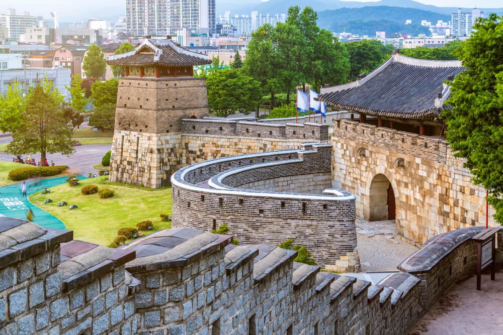 Fortaleza de Hwasong en Suwon, una de las ciudades de Corea del Sur