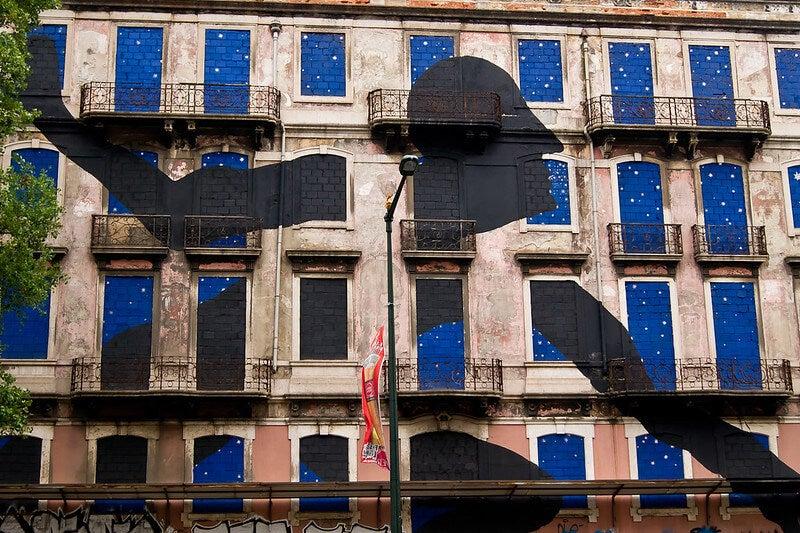 Mural muestra del arte urbano de Lisboa