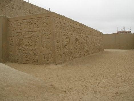 Muros en Chan Chan