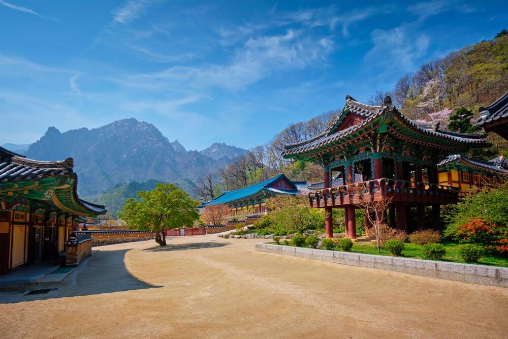 Vista del templo budista