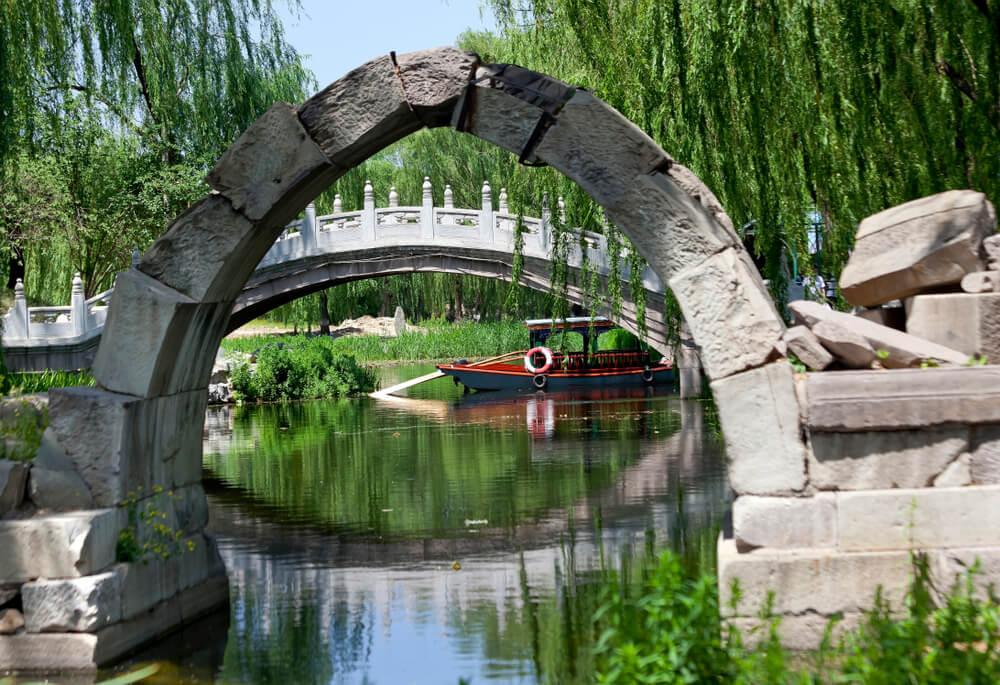 Canal en Yuanming Yuan