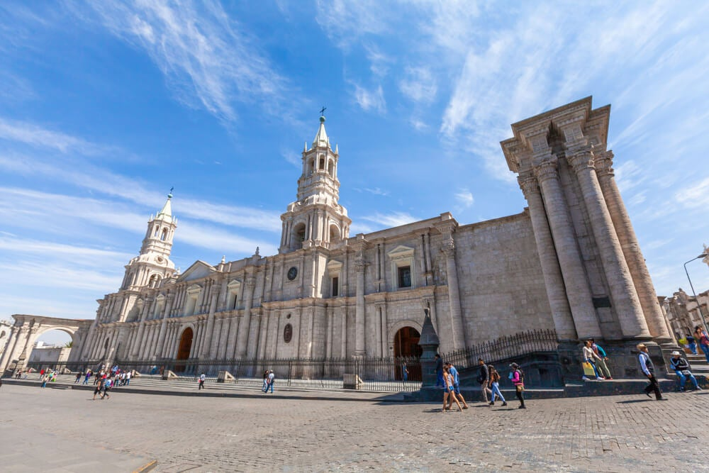 Descubrimos la impresionante catedral de Arequipa