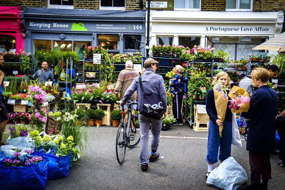 Vista del Columbia Road Flower Market