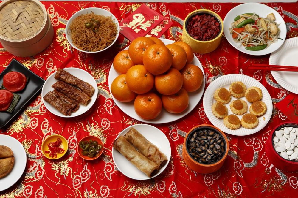 Comida china de año nuevo