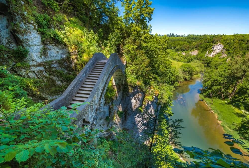 Vista del Danubio en Sigmaringen