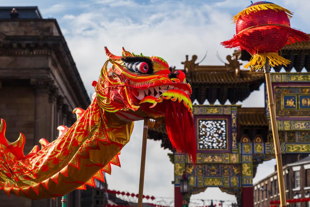 Danza del Dragón en el Año Nuevo chino