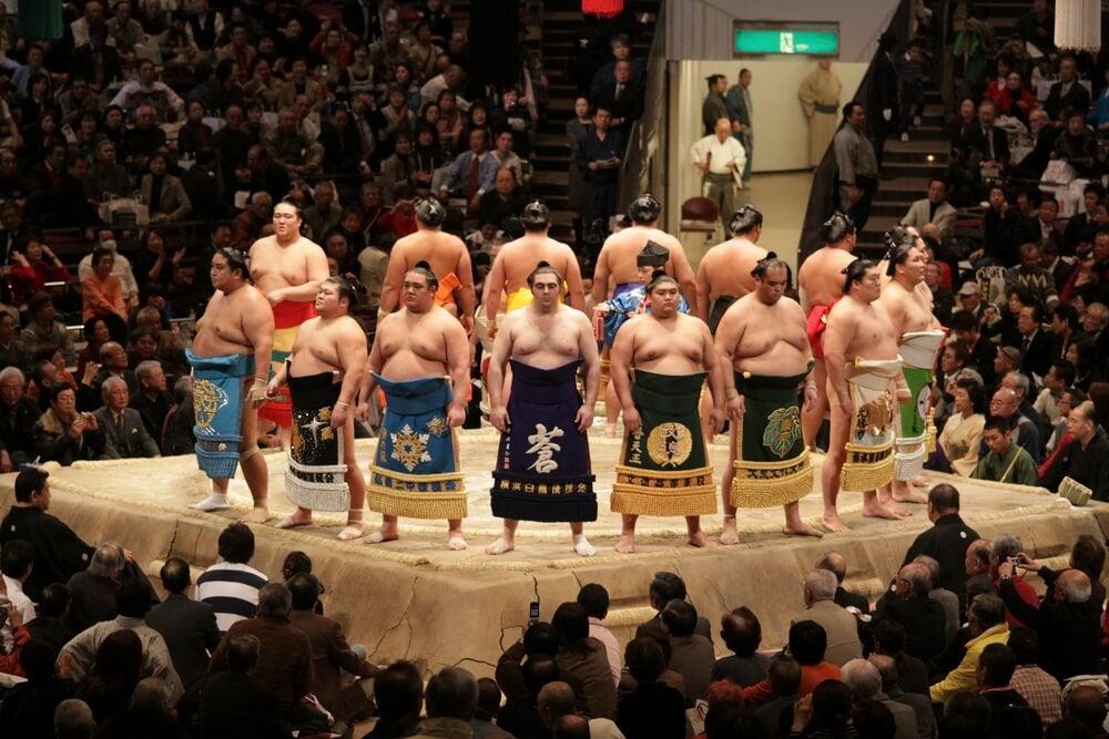 Deportistas de sumo