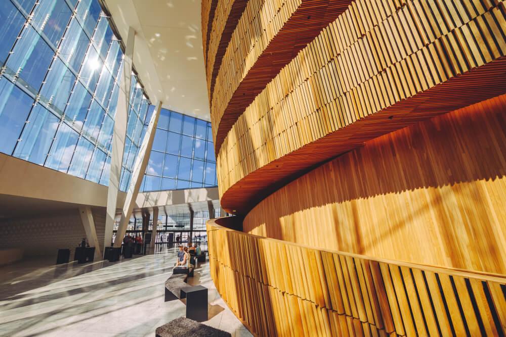 Interior de la Ópera de Oslo