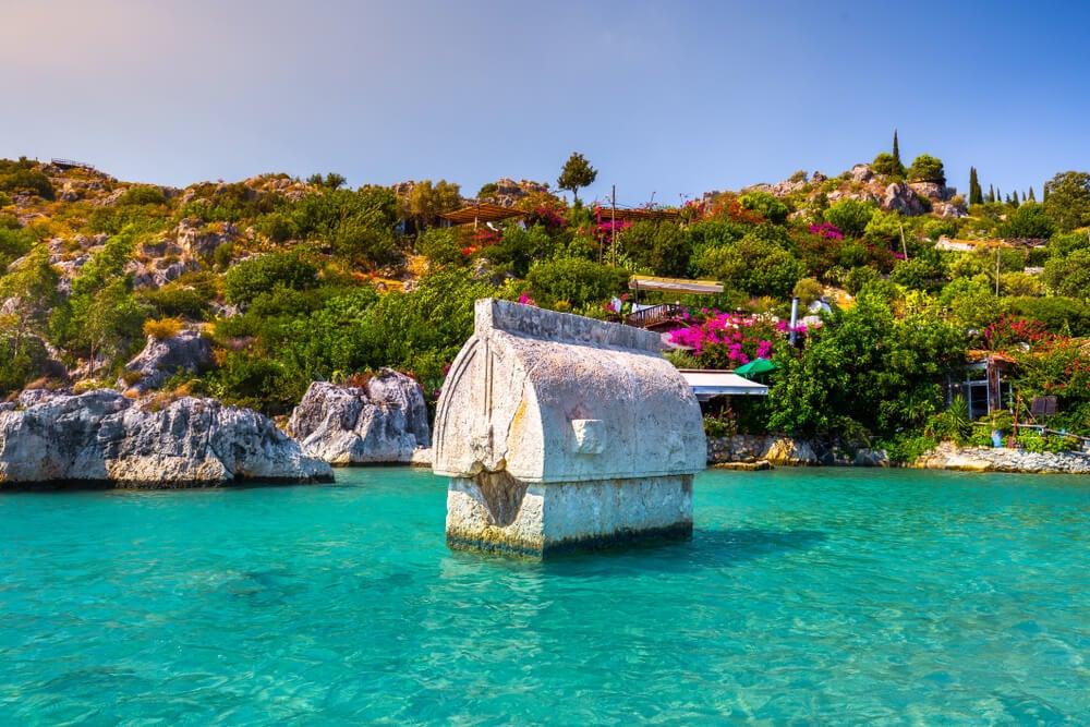 La isla Kekova en Turquía y su ciudad sumergida