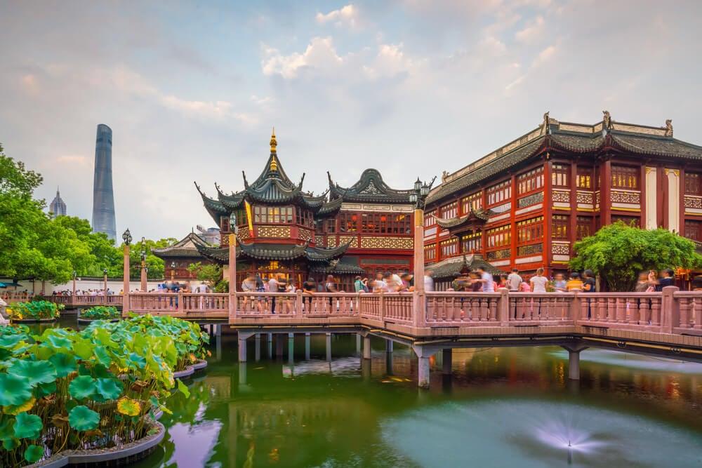 Casas en el Jardín de Yuyuan