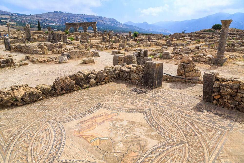 Mosaico y casas
