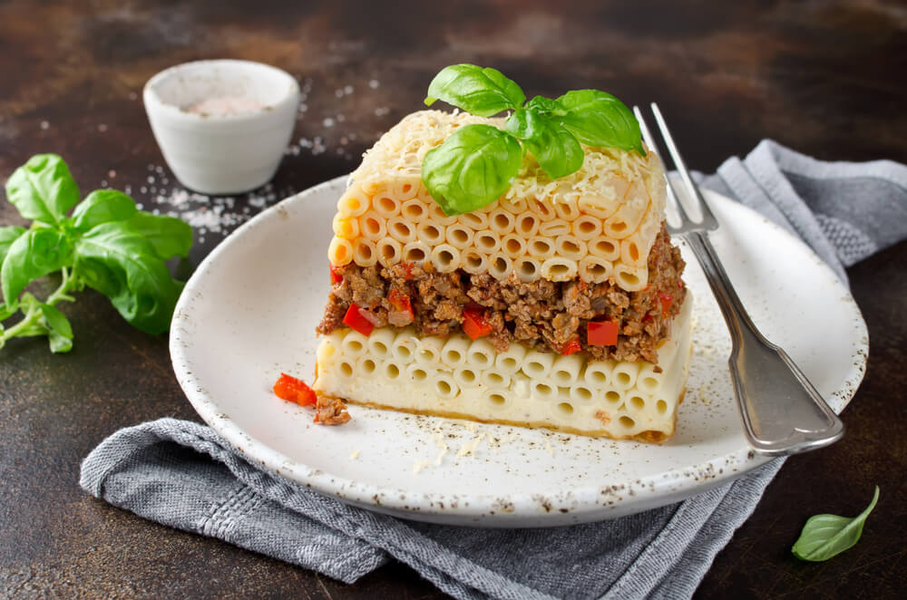 Pastitisio, plato que hay que comer en las islas griegas