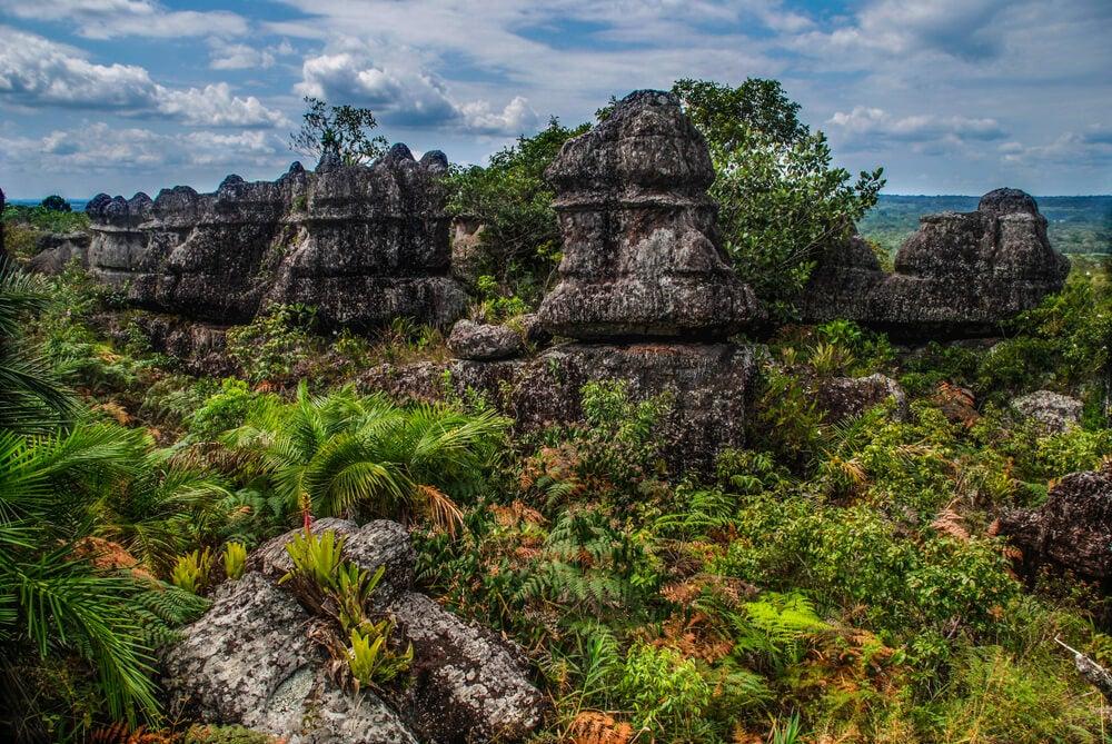 Formaciones rocosas en la sierra de la Macarena