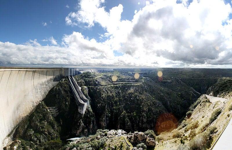 Vista del salto de Villarino