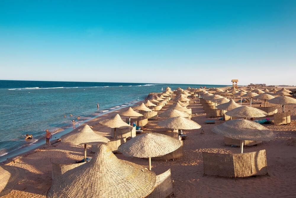 Playa de Sharm el-Sheikh en Egipto