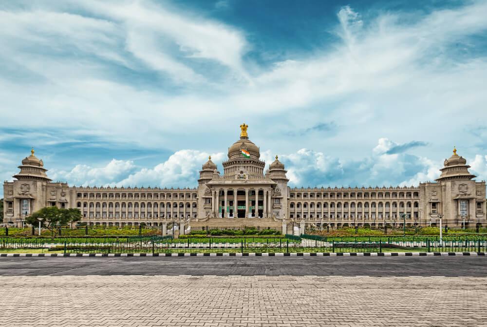 Edificio del Vidhana Soudha en Bangalore