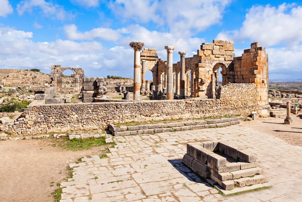 La antigua ciudad romana de Volubilis en Marruecos